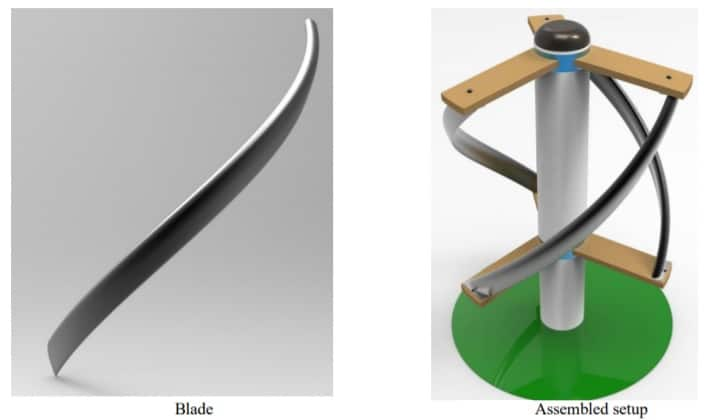 Design and Analysis of Helical Blade Wind