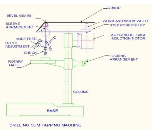 drilling cum tapping machine mechanical project