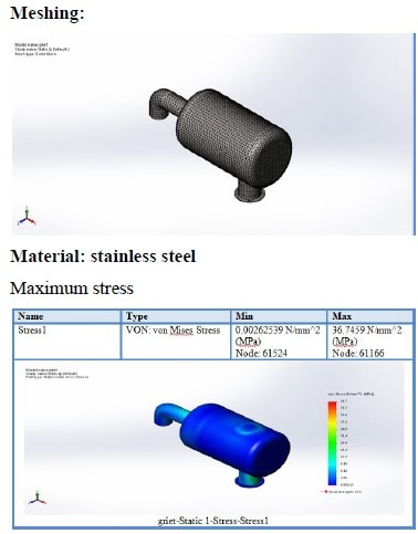 design and analysis of muffler guard mechanical project
