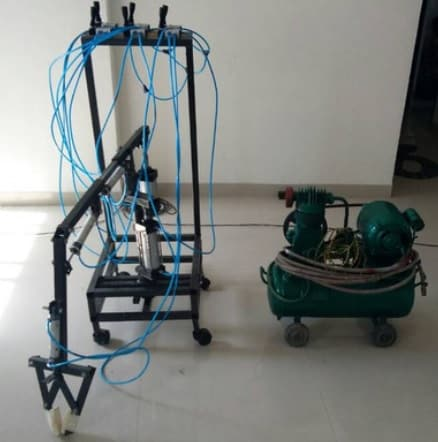 pneumatic based six axis material handling system