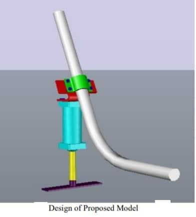 Design and proposed model of pneumatic side stand