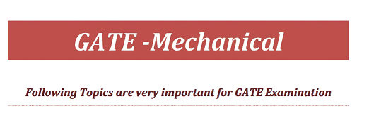 GATE MECHANICAL NOTES