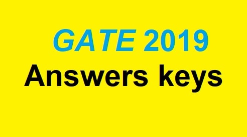gate 2019 answers keys