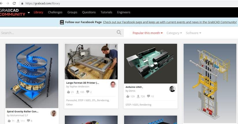 GrabCAD- 3d model library | Free 3d CAD models Download