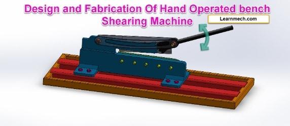 hand Operated bench shearing machine