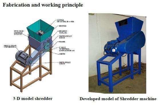 shredder machine -agricultural project