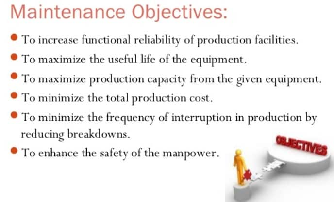 Maintenance Engineering objectives
