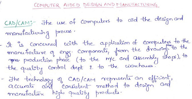 computer aided design notes