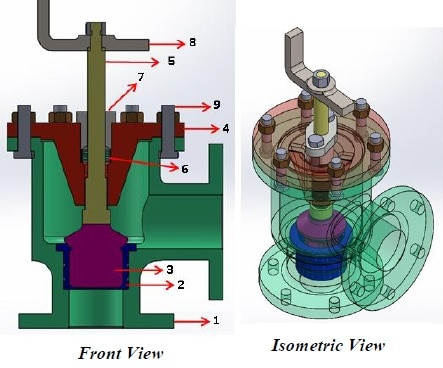 feed check valve using cfd