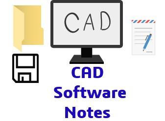 CAD Software notes