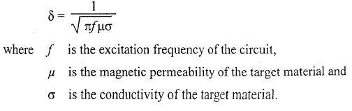 eddy current proximity sensor Formula