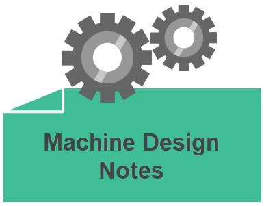 machine design notes
