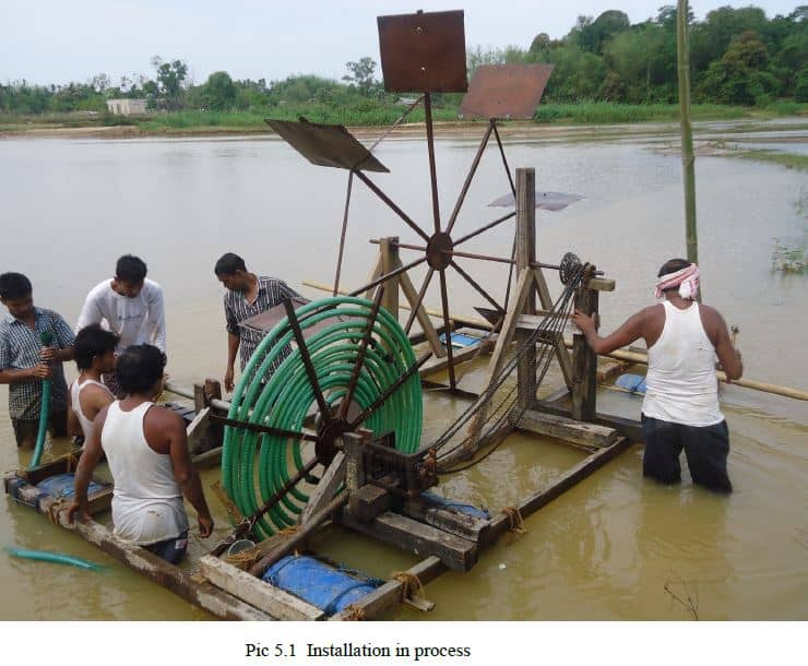 spiral tube water wheel mechanical projects