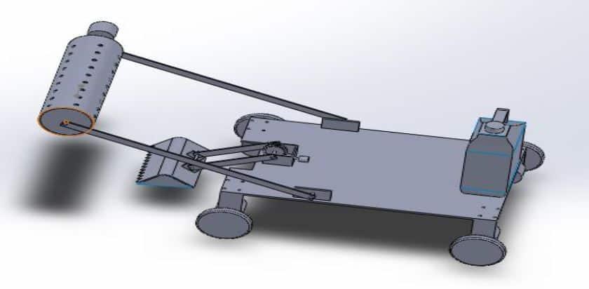 agricultural robot Design - Mechanical project design