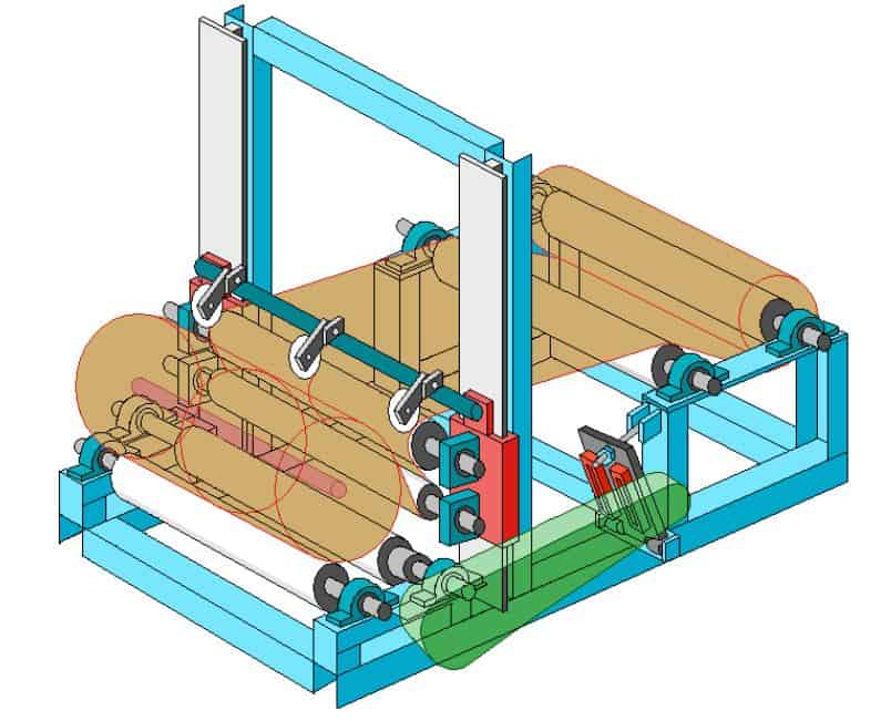paper cutting and rewinding machine mechanical projects