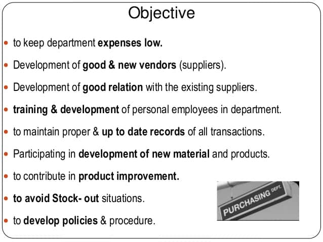 Purchasing Management Objectives