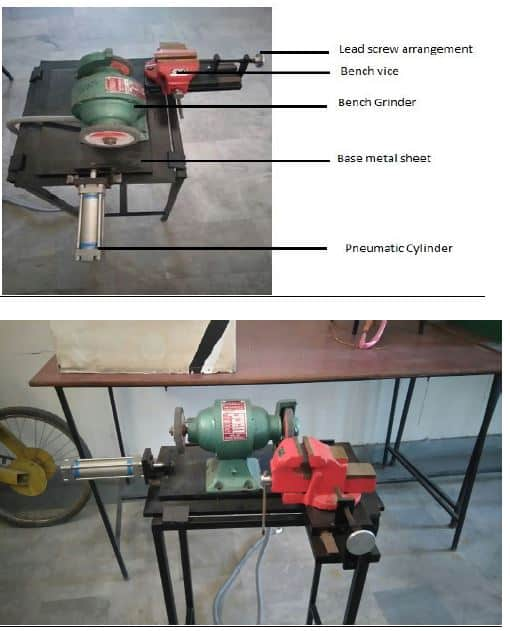 Solenoid Operated Pneumatic Grinding Machine - Mechanical Projects