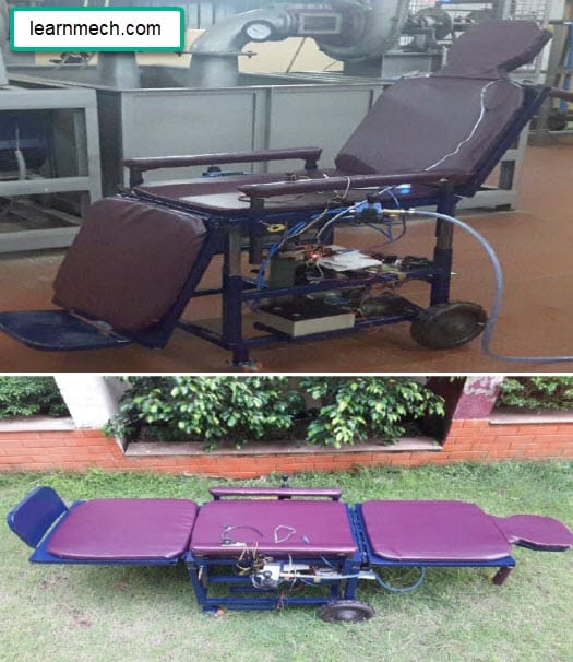 Automatic Wheel Chair Cum Bed - Mechanical Project
